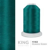Oceanic Green # 1182 Iris Trilobal Polyester Machine Embroidery & Quilting Thread - 5500 Yds THUMBNAIL