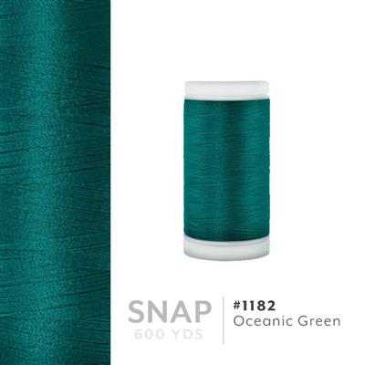 Oceanic Green # 1182 Iris Polyester Embroidery Thread - 600 Yd Snap Spool MAIN
