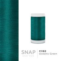 Oceanic Green # 1182 Iris Polyester Embroidery Thread - 600 Yd Snap Spool THUMBNAIL