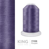 Purple # 1186 Iris Trilobal Polyester Machine Embroidery & Quilting Thread - 5500 Yds THUMBNAIL