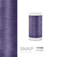 Purple # 1186 Iris Polyester Embroidery Thread - 600 Yd Snap Spool THUMBNAIL