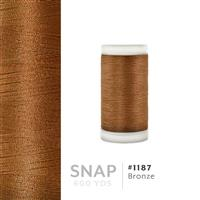 Bronze # 1187 Iris Polyester Embroidery Thread - 600 Yd Snap Spool THUMBNAIL