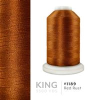 Red Rust # 1189 Iris Trilobal Polyester Machine Embroidery & Quilting Thread - 5500 Yds THUMBNAIL