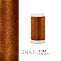 Red Rust # 1189 Iris Polyester Embroidery Thread - 600 Yd Snap Spool THUMBNAIL