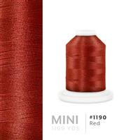 Red # 1190 Iris Polyester Embroidery Thread - 1100 Yds THUMBNAIL