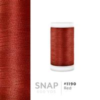 Red # 1190 Iris Polyester Embroidery Thread - 600 Yd Snap Spool THUMBNAIL