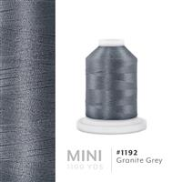 Granite Gray # 1192 Iris Polyester Embroidery Thread - 1100 Yds THUMBNAIL