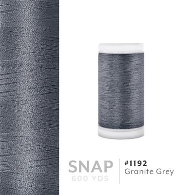 Granite Grey # 1192 Iris Polyester Embroidery Thread - 600 Yd Snap Spool MAIN