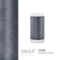 Granite Grey # 1192 Iris Polyester Embroidery Thread - 600 Yd Snap Spool THUMBNAIL