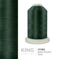 Dark Forest Teal # 1196 Iris Trilobal Polyester Machine Embroidery & Quilting Thread - 5500 Yds THUMBNAIL