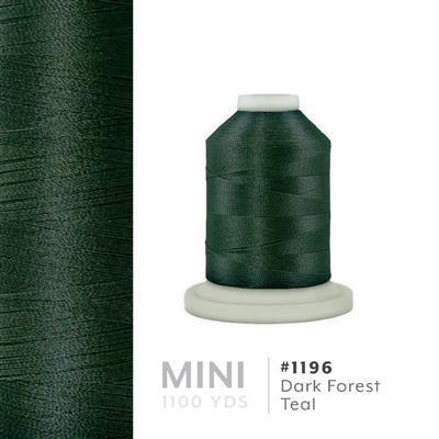 Dark Forest Teal # 1196 Iris Polyester Embroidery Thread - 1100 Yds MAIN