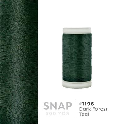 Dark Forest Teal # 1196 Iris Polyester Embroidery Thread - 600 Yd Snap Spool MAIN