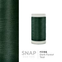 Dark Forest Teal # 1196 Iris Polyester Embroidery Thread - 600 Yd Snap Spool THUMBNAIL