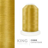 Corral Gold # 1200 Iris Trilobal Polyester Machine Embroidery & Quilting Thread - 5500 Yds THUMBNAIL