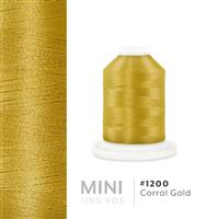 Corral Gold # 1200 Iris Polyester Embroidery Thread - 1100 Yds THUMBNAIL