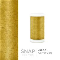 Corral Gold # 1200 Iris Polyester Embroidery Thread - 600 Yd Snap Spool THUMBNAIL
