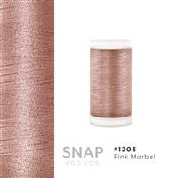 Pink Marbel # 1203 Iris Polyester Embroidery Thread - 600 Yd Snap Spool THUMBNAIL
