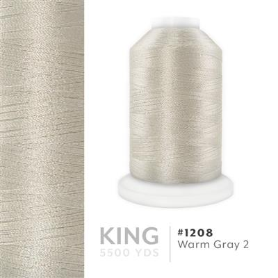 Warm Grey 2 # 1208 Iris Trilobal Polyester Thread - 5500 Yds MAIN
