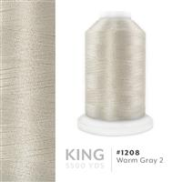 Warm Grey 2 # 1208 Iris Trilobal Polyester Machine Embroidery & Quilting Thread - 5500 Yds THUMBNAIL