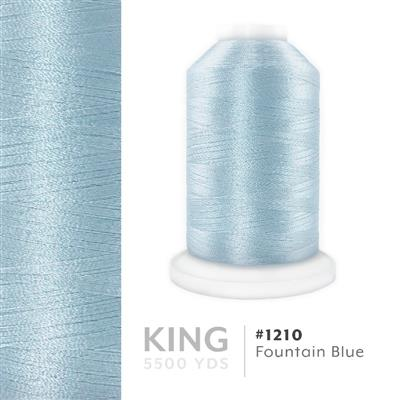 Fountain Blue # 1210 Iris Trilobal Polyester Thread - 5500 Yds MAIN