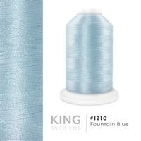 Fountain Blue # 1210 Iris Trilobal Polyester Machine Embroidery & Quilting Thread - 5500 Yds THUMBNAIL