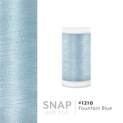 Fountain Blue # 1210 Iris Polyester Embroidery Thread - 600 Yd Snap Spool MAIN