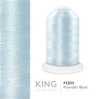 Powder Blue # 1211 Iris Trilobal Polyester Machine Embroidery & Quilting Thread - 5500 Yds THUMBNAIL
