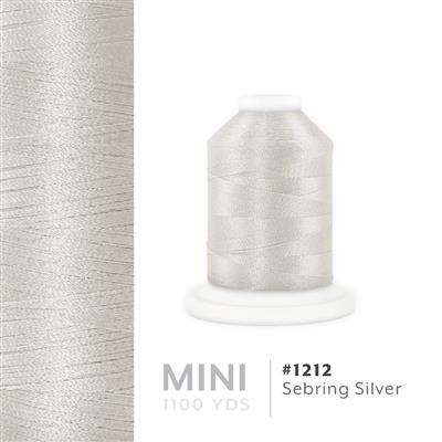 Sebring Silver # 1212 Iris Polyester Embroidery Thread - 1100 Yds MAIN