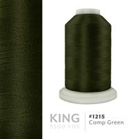 Camp Green # 1215 Iris Trilobal Polyester Machine Embroidery & Quilting Thread - 5500 Yds THUMBNAIL