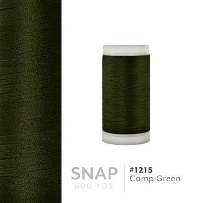 Camp Green # 1215 Iris Polyester Embroidery Thread - 600 Yd Snap Spool MAIN