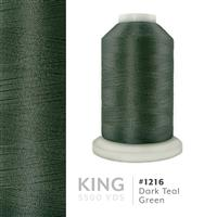 Dark Teal Green # 1216 Iris Trilobal Polyester Machine Embroidery & Quilting Thread - 5500 Yds THUMBNAIL