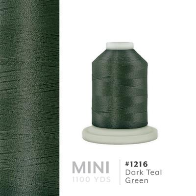Dark Teal Green # 1216 Iris Polyester Embroidery Thread - 1100 Yds MAIN
