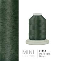 Dark Teal Green # 1216 Iris Polyester Embroidery Thread - 1100 Yds THUMBNAIL