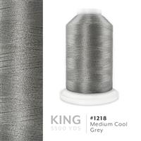 Med. Cool Grey # 1218 Iris Trilobal Polyester Machine Embroidery & Quilting Thread - 5500 Yds THUMBNAIL
