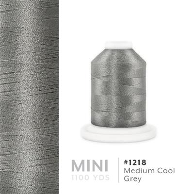 Med. Cool Grey # 1218 Iris Polyester Embroidery Thread - 1100 Yds MAIN