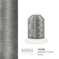 Med. Cool Grey # 1218 Iris Polyester Embroidery Thread - 1100 Yds THUMBNAIL