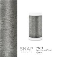 Medium Cool Grey # 1218 Iris Polyester Embroidery Thread - 600 Yd Snap Spool THUMBNAIL