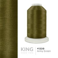 Army Green # 1220 Iris Trilobal Polyester Machine Embroidery & Quilting Thread - 5500 Yds THUMBNAIL