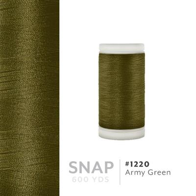 Army Green # 1220 Iris Polyester Embroidery Thread - 600 Yd Snap Spool MAIN