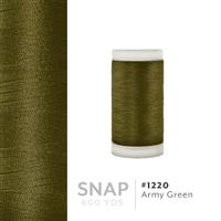 Army Green # 1220 Iris Polyester Embroidery Thread - 600 Yd Snap Spool THUMBNAIL
