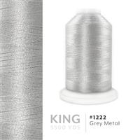 Grey Metal # 1222 Iris Trilobal Polyester Machine Embroidery & Quilting Thread - 5500 Yds THUMBNAIL