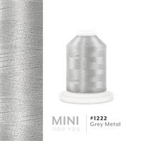 Grey Metal # 1222 Iris Polyester Embroidery Thread - 1100 Yds THUMBNAIL