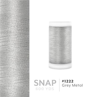 Grey Metal # 1222 Iris Polyester Embroidery Thread - 600 Yd Snap Spool MAIN
