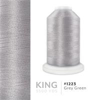Grey Green # 1223 Iris Trilobal Polyester Machine Embroidery & Quilting Thread - 5500 Yds THUMBNAIL
