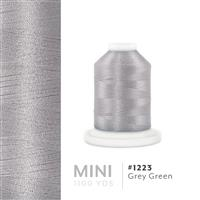 Grey Green # 1223 Iris Polyester Embroidery Thread - 1100 Yds THUMBNAIL