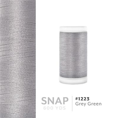 Grey Green # 1223 Iris Polyester Embroidery Thread - 600 Yd Snap Spool MAIN