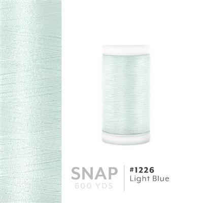 Light Blue # 1226 Iris Polyester Embroidery Thread - 600 Yd Snap Spool MAIN