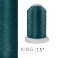 Teal # 1227 Iris Trilobal Polyester Machine Embroidery & Quilting Thread - 5500 Yds THUMBNAIL