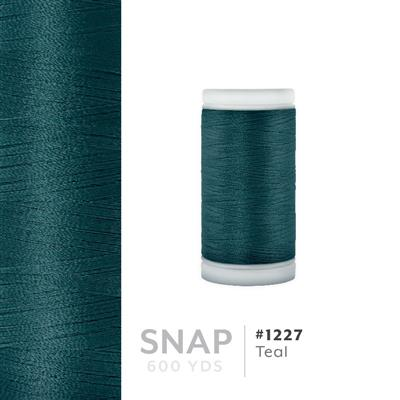 Teal # 1227 Iris Polyester Embroidery Thread - 600 Yd Snap Spool MAIN