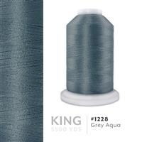Grey Aqua # 1228 Iris Trilobal Polyester Machine Embroidery & Quilting Thread - 5500 Yds THUMBNAIL